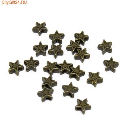 PH Бусина металлическая звездочка 7*4 мм
