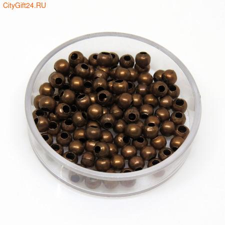 BS Бусина металлическая шар 4 мм
