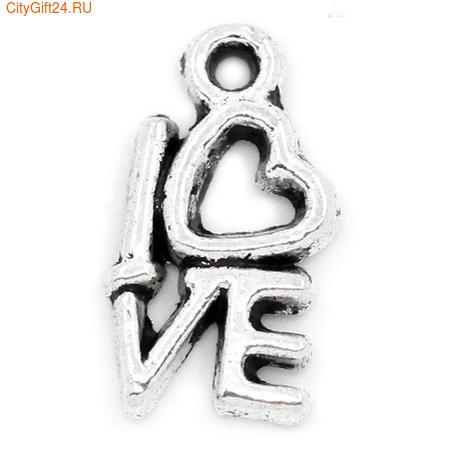 SN Подвеска Love 14*8 мм