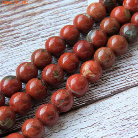 PH Бусина красная яшма 10-10,5 мм