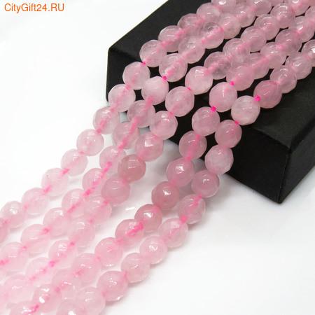 PH Бусина розовый кварц граненая 6 мм
