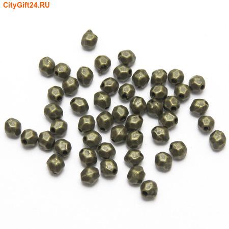 PH Бусина металлическая 4*3,5 мм