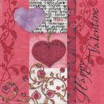 Lambi Салфетка для декупажа Happy Valentine