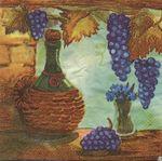 Булгари Грин Салфетка для декупажа Кувшин и виноград