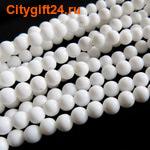 Fashion Jewelry Бусина белый агат 4 мм