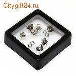 BS Фиксатор для серег 5*4 мм (серебро)
