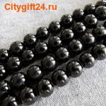 Fashion Jewelry Бусина агат чёрный 10 мм (имитация)
