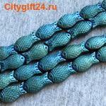 PH Бусина стеклянная рыбка 18*8*5 мм