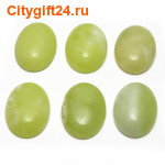 BS Кабошон лимонный нефрит 15*20 мм