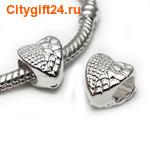 BS Бусина металлическая сердце 8,5*9*7 мм