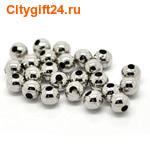 BS Бусина металлическая шар 5 мм