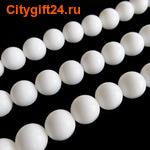 Fashion Jewelry Бусина белый агат 10 мм