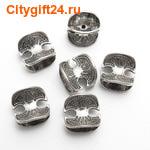BS Бусина металлическая 15*14*12 мм
