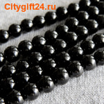 Fashion Jewelry Бусина агат чёрный 6 мм (имитация)