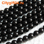 PH Бусина агат чёрный натуральный 6 мм