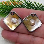 BS Бусина металлическая звезда 12*9 мм