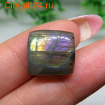 BS Кабошон лунный камень 14*13*7 мм *
