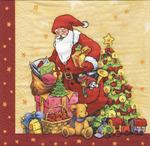 PapStar Салфетка для декупажа Санта и подарки