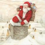 PapStar Салфетка для декупажа Санта на крыше