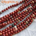 PH Бусина красная яшма 4 мм