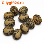 Fashion Jewelry Бусина с рисунком 13*10 мм