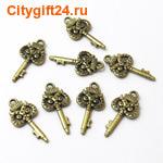 PH Подвеска ключик-филин 21*10 мм