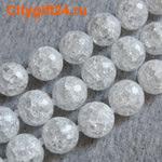 BS Бусина кварц сахарный граненая 10 мм