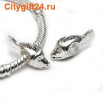 BS Бусина металлическая рыбка 7,5*18*9 мм