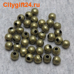 SN Бусина металлическая шар 6 мм