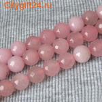 BS Бусина розовый кварц граненая 10 мм