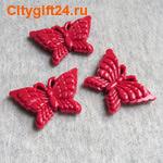 BS Бусина коралл синтетический бабочка 39*26 мм
