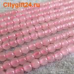 BS Бусина розовый кварц 4 мм