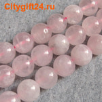 BS Бусина розовый кварц 12 мм