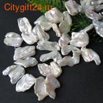 PH Барочный жемчуг белый 10~25x10~20x3~8 мм