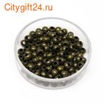 BS Бусина металлическая шар 2 мм
