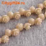 PH Бусина коралл синтетический розочка 8*8,5 мм