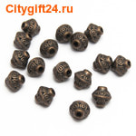 PH Бусина металлическая биконус 7*6,5 мм