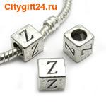 BS Бусина металлическая буква Z 7*6.5 мм