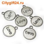 BS Подвеска Love 23*19 мм