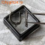 BS Бусина металлическая со стразами 10*3,5 мм