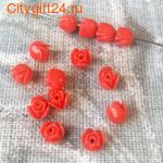 PH Бусина коралл синтетический розочка 6,5*7 мм