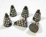 PH Шипы металлические со стразами 13*9 мм