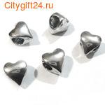 BS Бусина металлическая сердце 9*10*7,5 мм