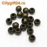 BS Бусина металлическая шар 8 мм