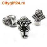 BS Бусина металлическая ангел 14*17,5*13,5 мм