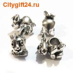BS Бусина металлическая кролик 8*15*13 мм
