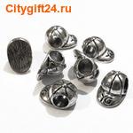 BS Бусина металлическая кепка 8,5*13*7,5 мм