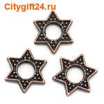 SN Рамка для бусины звезда 15*14 мм