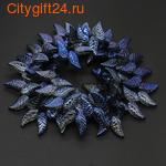 SN Бусина металлическая цветок 11*9 мм