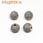 Fashion Jewelry Бусина аметист плоская 18*13 мм